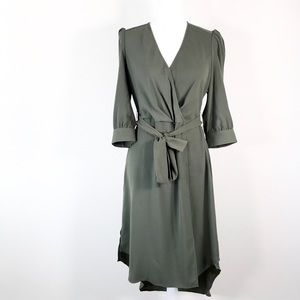 Bar III 4 Women's Dusty Olive Dress.